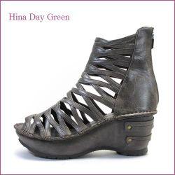 hina day green ヒナデイグリン hi4390dn  ダークブラウン  【可愛いボリューム・・安心のふわふわクッション・・ hina  グラディエーターサンダル】