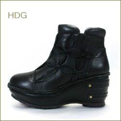 hina day green ヒナデイグリン hi4505bl  ブラック  【可愛いお花の万華鏡・・厚めのソールでスタイルアップ・・・hina ふわふわクッション アンクル】
