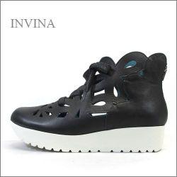 invina インビナ  iv4452bl  ブラック 【可愛いフラワーカット・・・リラックス効果のインソール。。invina 大人のスニーカースタイル】