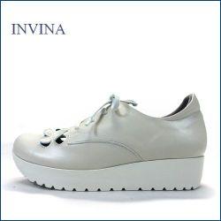 invina インビナ  iv4453iv  アイボリー 【新鮮:可愛いお花のカット・・・リラックス効果のインソール。。invina 大人のスニーカースタイル】