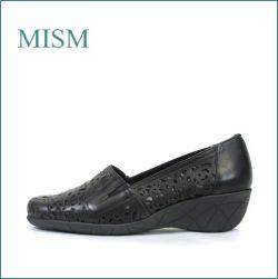 mism ミズム ms1661bl ブラック 【お花のデザインと・・フィットする中敷・mism・ウェッジソール スリッポン】