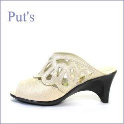 put's靴 プッツ pt105go  GDベージュ  【豪華ストーンをちりばめた・・おしゃれな・・put's靴 ミュールサンダル】