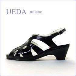 UEDA MILANO  ウエダ ミラノ BY PUT'S  ud4700bl  ブラック  【職人技仕様のはきやすい 心のこもった手作り高級サンダル】