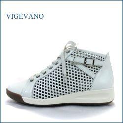 vigevano  ビジェバノ  vg6600iv  アイボリー 【柔らかレザーで楽らく・・サイドベルト&パンチングメッシュ。。vigevano すっきり上品スニーカー】