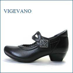 vigevano  ビジェバノ vg7026bl ブラック 【靴職人手作りの1足・・優しく包む感じ・・ vige vano ベルトパンプス】