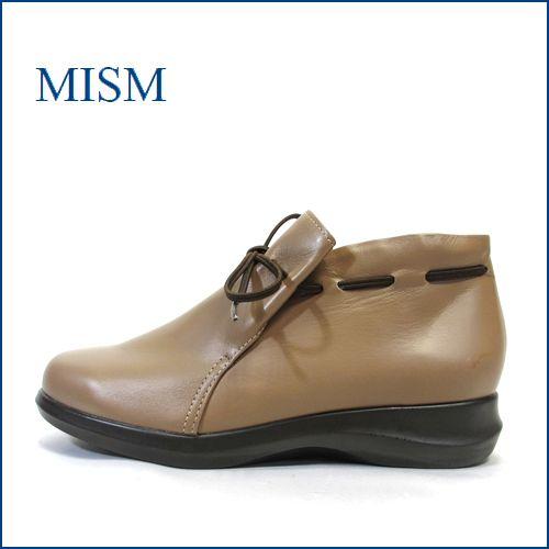 mism ミズム ms305bg ベージュ 【スポッ..と履けるゴムリボン・・・よく馴染むソフトレザー・・mism・・軽いショートブーツ】