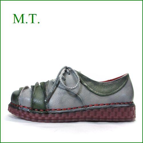 MT  エムティー  mt8301gy  グレイカーキ― 【柔らかソールがポイント・・・足に吸いつく履き心地。。MT 紐ひもマニッシュ】