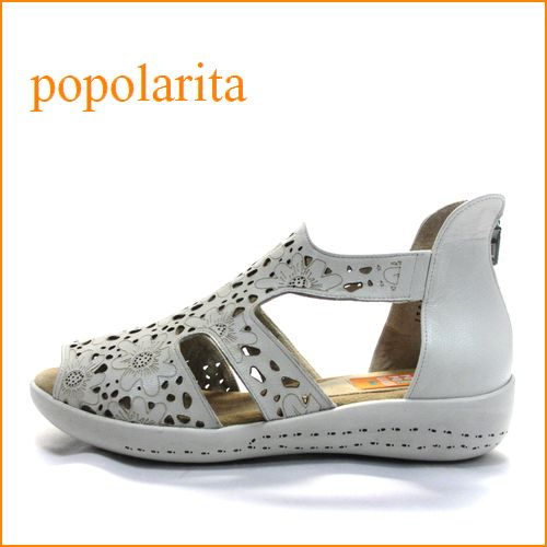 popolarita  ポポラリタ  po1790iv  アイボリー 【ドンドン歩いて・・ドンドン活躍。。新鮮・お花模様のレーザーパンチングカット・popolarita・可愛いブーツサンダル】