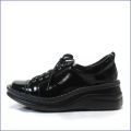 エ—オーケー  aok靴 ak84801bl  ブラック  【おしゃれなルックス・・・足に心地いいソフトエナメル・・aok  スニーカースタイル】