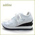 ashline アシュライン as11286wt ホワイト 【シンプルデザインにスター☆☆☆おしゃれなパープルソール。。ashline・履きやすいインヒール・スニーカー】
