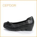 cep'dor  セプドール  ce1634bl  ブラック 【楽にFITする クッション構造・・ 履きやすい柔らか仕立て・・ cepdor・ キャタピラソール】