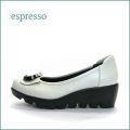 espresso  エスプレッソ  ep2703bg  ベージュ 【可愛いリボンと・・ふわふわインソール・・espresso靴 なみなみ底のパンプス】