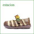 estacion  エスタシオン靴  et0381brbg BRベージュ 【お花畑を散歩。。エスタシオン靴・・・・カラフル・・可愛い!花花・ ワンベルト】