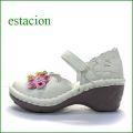 estacion エスタシオン靴  et140iv アイボリー 【ポイントはカカト!可愛いフラワーカット。。エスタシオン靴・・お花の ワンベルト】