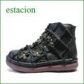 estacion エスタシオン靴  et1452bla ブラック 【フワッと感じるオザブ・クッション! エスタシオン・・お花畑のかわいいアンクル】