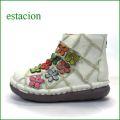 estacion エスタシオン靴  et1452ivc アイボリーコンビ 【フワッと感じるオザブ・クッション! エスタシオン・・お花畑のかわいいアンクル】