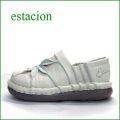 estacion  エスタシオン靴  et199iv  アイボリー 【ワクワク元気。。可愛いお花が咲いている。。エスタシオン靴・・万華鏡・スリッポン】