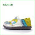 estacion エスタシオン靴 et243iv アイボリー 【新鮮・・△▽三角パッチ△▽△ エスタシオン・・・ とても可愛い まん丸スリッポン】