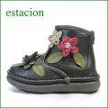 estacion  エスタシオン靴  et271bl ブラック 【フワッと感じるオザブ・クッション! エスタシオン・・お花畑のかわいいアンクル】