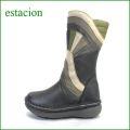 estacion エスタシオン靴 et35bl ブラックマルチ 【ちょっと長めで初登場!!さえてる 新鮮色達。。。エスタシオン・・かわいいハーフブーツ】