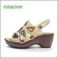 エスタシオン靴  estacion  et503bg  ベージュマルチ 【△三角窓で可愛さ満点。。。△新型▽ソール△ エスタシオン靴・・・フワッと気持いいサンダル】