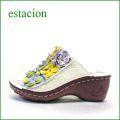 estacion  エスタシオン  et612iv アイボリー 【可愛さ満開。。わくわく元気な。。エスタシオン靴・・・お花畑のカラフルミュール】