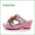 estacion  エスタシオン  et73pk ピンク 【虹色プリント!元気になっちゃう・・エスタシオン・・・・可愛い!ミュールサンダル】