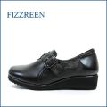 fizz reen フィズリーン fr1021bl ブラック 【外販拇指に優しい・・ゆったり巾広4E・・・fizz reen ・・柔らか仕立てのスリッポン】