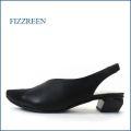 fizzreen  フィズリーン fr1134bl  ブラック 【細足に見せるきれいなシルエット・・楽に履ける幅広 ウィズ3E。。fizzreen バックバンド・パンプス】