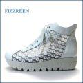 fizzreen  フィズリーン fr1444wt  ホワイト 【すっきり お花のレース・・ふわふわ2重のクッション。。fizzreen 厚底レースアップ】