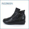 fizz reen フィズリーン fr1570bl ブラック 【スッキリ かわいい丸さと・・新型ロープソールの・・FIZZREEN・・・楽らく ラウンドショート】