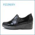 fizzreen  フィズリーン  fr1710bl  ブラック 【人気のプラットフォームソール・・ふわふわ2重のクッション。。fizzreen エナメル・スリッポン】