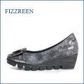 fizz reen フィズリーン fr1751gy グレイ 【軽くなって登場・・・新型リップルソール・・FIZZREEN・・かわいいリボンパンプス】