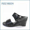 fizz reen フィズリーン fr2370bl ブラック 【新鮮 2段ウェッジソール・・FIZZREEN・・・・上品スッキリ・ミュール】