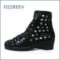 fizz reen フィズリーン fr2750bl ブラック 【水玉がいっぱい・・・ときめき 新鮮素材・・fizz reen ・・後ろファスナーアンクル】