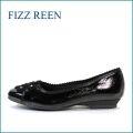 fizzreen フィズリーン fr313bl   ブラック 【可愛いリボン・・バツグンのクッション・・フィズリーン 快適な カジュアル パンンプス】