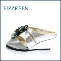 fizz reen フィズリーン ミュール  fr457sl  シルバー 【足をつつんでふわっとクッション・FIZZREEN・お花・フィズリーン ミュールタイプ サンダル】
