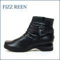 FIZZ REEN フィズリーン fr6007bl ブラック 【極やわらかなめし革の・・・履きやすいクラシカルな・・fizzreen ショートブーツ】