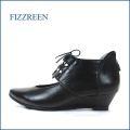 fizz reen フィズリーン fr6488bl ブラック 【ふわふわクッションと・・・肌触りの良い裏素材・・・fizzreen 可愛いギリーパンプス】