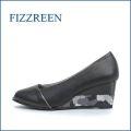 fizzreen  フィズリーン  fr7065bl  ブラック 【すっきりシンプル・・楽にFITする クッション構造・・  fizzreen・2段ウェッジパンプス】