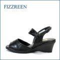 fizz reen フィズリーン fr7140bl ブラック 【安定感ある・・上質な履き心地・・FIZZREEN・ソフトなFIT・・ウェッジサンダル】