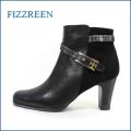fizz reen フィズリーン fr7716bl  ブラック 【きれいなラインで・・きれいにFIT・FIT・FIT・・ fizzreen・楽々・ショートブーツ】