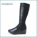 fizzreen フィズリーン fr803bl  ブラック  【すっきりシンプルなデザイン・・ストレッチで優しく包む・・fizzreen  きれいな厚底ロングブーツ】