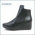 fizzreen フィズリーン fr809bl  ブラック  【アーチをたすけるたっぷりつちふまずパッド・・クッションのいい厚底ソール・・ fizzreen  シンプルきれいなショート】