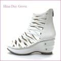 hina day green ヒナデイグリン hi4390wt  ホワイト  【可愛いボリューム・・安心のふわふわクッション・・ hina  グラディエーターサンダル】