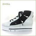 invina インビナ  iv2168wt  ホワイト 【オシャレなホワイト&ブラック!INVINA 歩行に優しいウェーブ調の安らぎインソール】