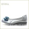 invina インビナ  iv3079sl  シルバー 【お花の裏革ブルーが可愛さアップ!invina 走れるカッターパンプス】