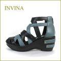 nvina インビナ iv4102bl ブラック 【プックリ、ボリュームのある・・厚底ソール・・invina・柔らかレザーサンダル】
