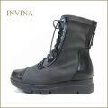 invina インビナ  iv52273bl  ブラック 【おしゃれなシルエット 後ろファスナー・・ワンランク昇格の履きやすさ・・invina おでかけが 楽しめます。。】