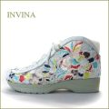 invina  インビナ  iv5550wt  ホワイト  【ソックスみたい履きやすい・・カラフルししゅうの可愛いお花。。インビナ 楽らくアンクル】